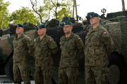 """Zgrupowanie treningowe """"Wierni Polsce"""" - trening rzutu kołowego oraz plac czołgowy."""