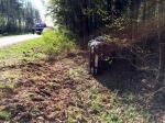 Volkswagen golf dachował pod Opolem