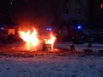 Spłonął kontener przy ul. Piotrkowskiej