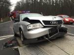 Trzy osoby ranne w wypadku na drodze krajowej nr 94