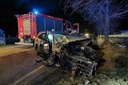 Poważne zderzenie BMW i Volkswagena. Ranna kobieta - 20200215202553_86350826_273405o_1.jpg