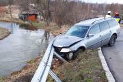 Samochód wypadł z drogi i uderzył w bariery energochłonne - 20200216180607_86289202_2723216o_0.jpg