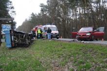 Wypadek w Skarbiszowie