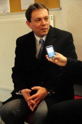 Sędzia Lipiński podczas wywiadu z reporterem 24Opole.<i>(Fot: Dżacheć)</i>