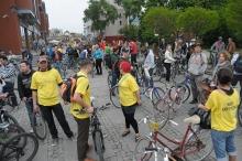W pierwszej opolskiej masie krytycznej w 2014 roku wzięło udział ponad 100 rowerzystów.