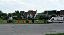 Robotnik spadł z rusztowania, w akcji śmigłowiec LPR