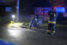 Motocyklista zginął w wypadku na ul. Prószkowskiej