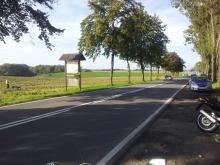Nieprawidłowe zawracanie przyczyną wypadku motocyklisty