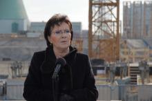 Premier Ewa Kopacz odwiedziła plac rozbudowy Elektrowni Opole