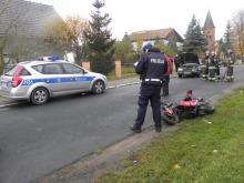 16-letni motorowerzysta ciężko ranny w wypadku w Przeczy