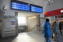 Nowa, elektroniczna tablica odjazdów i przyjazdów to tylko jeden z widocznych efektów remontu dworca.
