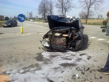 Wyjeżdżając ze stacji paliw spowodował wypadek