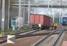 Na stacji Opole Zachodnie wykoleił się pociąg towarowy