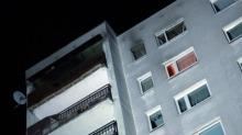 Pożar mieszkania na 10 piętrze bloku na osiedlu AK
