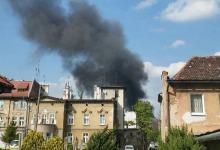 Pożar hali magazynowej w Brzegu