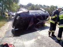 19-letni kierowca audi dachował pod Opolem