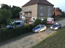 Wypadek motoroweru w Czarnowąsach. Dwie osoby ranne.