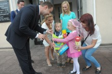 Przedszkolaki otrzymały dziś z rąk prezydenta klucze do bram miasta.