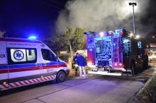 Jedna osoba poparzona podczas pożaru domu w Michałowie