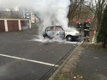 Pożar samochodu na Zaodrzu