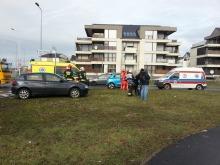 Renault i alfa romeo zderzyły się na Alei Solidarności