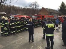 W akcji poszukiwawczej brało udział kilkudziesięciu strażaków oraz policjantów, a także grupy poszukiwawcze z psami.