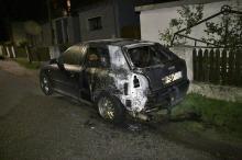Audi spłonęło w Prószkowie. Podpalenie?