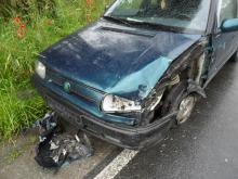 Zderzenie dwóch samochodów w Sidzinie. Trzy osoby poszkodowane.