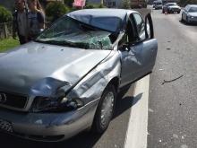 Wypadek w Sosnówce. Jedna osoba ranna.