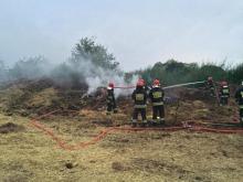 Pożar słomy w fabryce pelletu w Opolu