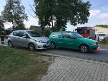 Toyota i volkswagen zderzyły się w Lędzinach