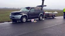 Tragiczny wypadek pod Brzegiem. Zginął pasażer forda.