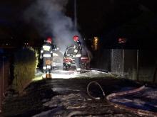 Fiat seicento spłonął na Zaodrzu