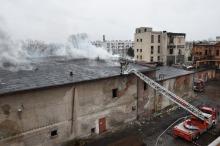 Pożar w dawnym browarze w Brzegu