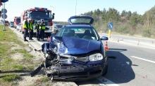 Dwie osoby ranne w wypadku na obwodnicy Opola