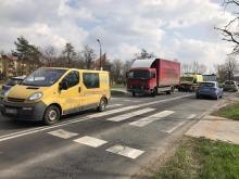 Wypadek z udziałem karetki pogotowia na ul. Oświęcimskiej