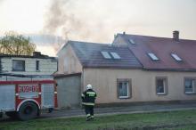 Pożar domu jednorodzinnego w Skarbiszowie