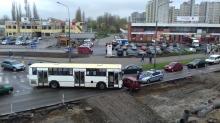 Daewoo zderzyło się z autobusem MZK