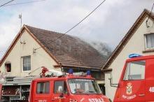 Spłonął dach domu w Dobrzyniu