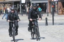 Policjanci wsiedli na rowery