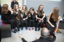 Tłumy uczniów na targach edukacyjnych w CWK
