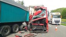 Dwie ciężarówki zderzyły się na autostradzie A4