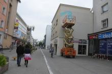 Na opolskich kamienicach powstaje kolorowy mural
