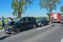 Trzy auta zderzyły się między Opolem a Zawadą