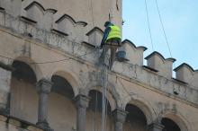 Czas na umycie ratuszowej wieży