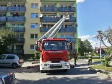 Niedopałek przyczyną pożaru pufy na balkonie?