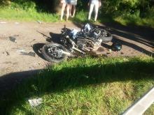 Tragiczny wypadek motocyklisty przed Dąbrową.