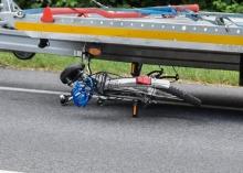 Potrącenie rowerzystki w gminie Skarbimierz