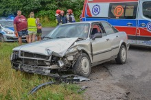 Dwa auta zderzyły się w Szydłowcu Śląskim