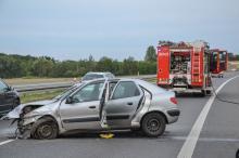 Uderzył w barierki na A4. Mieszkaniec Śląska w szpitalu